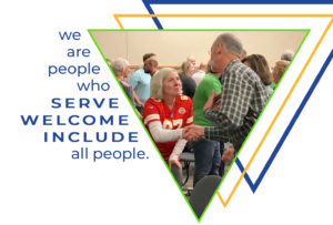We are people who SERVE WELCOME INCLUDE all people. Common Grace Olathe