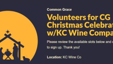 Volunteer for Common Grace Christmas Celebration!