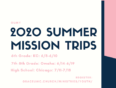 Summer Youth Mission Trips